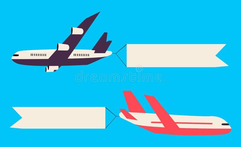 飞行的飞机和直升机 皇族释放例证