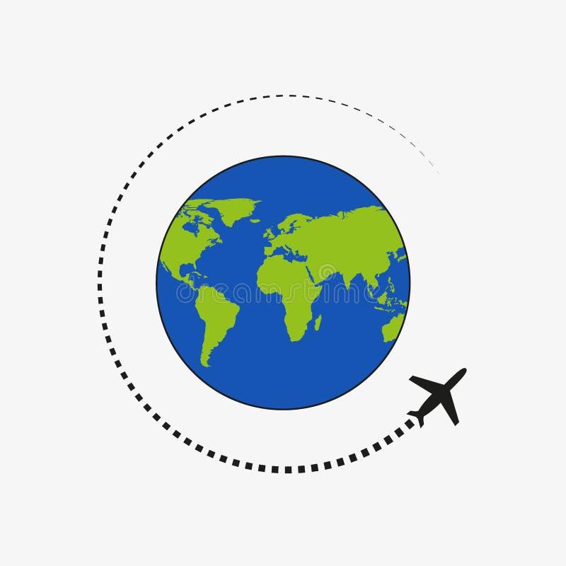 飞行的飞机 道路飞机 飞行环球 r 皇族释放例证