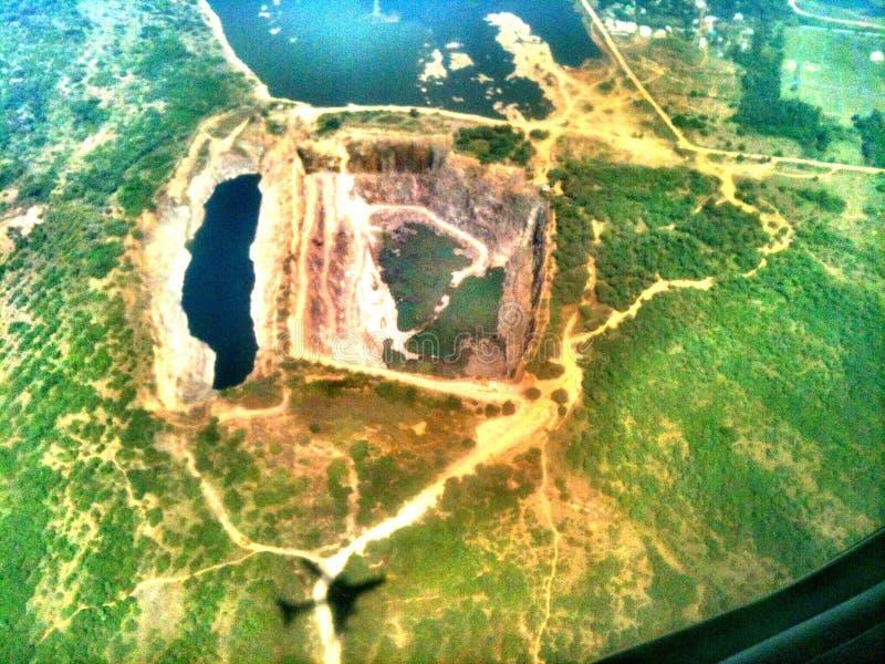 从飞行的鸟瞰图 库存图片