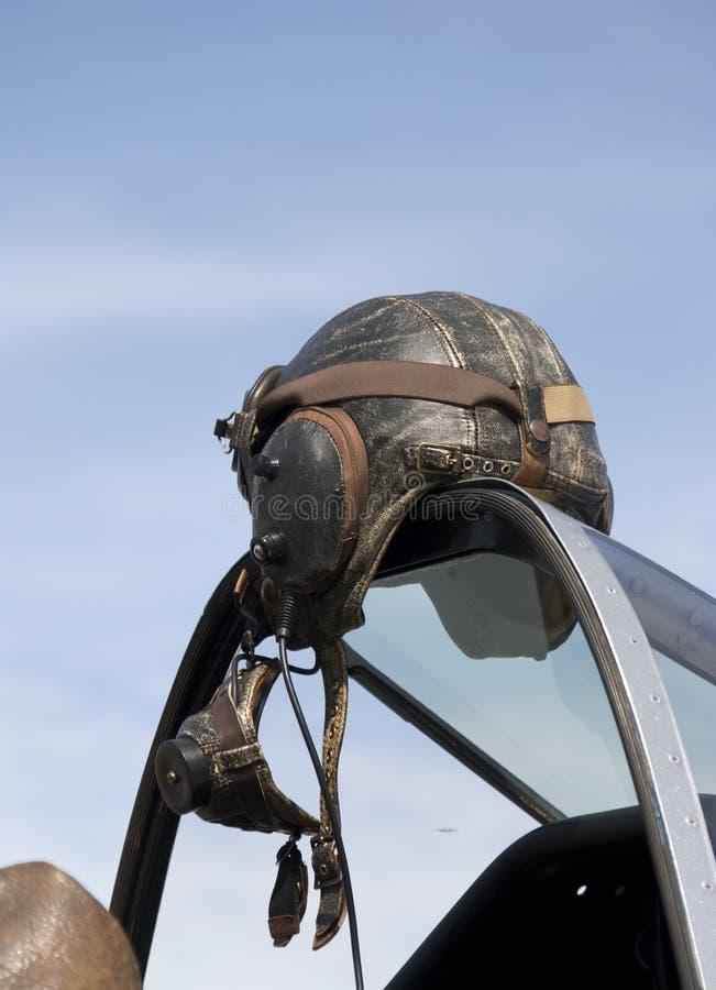 飞行盔甲皮革 库存图片