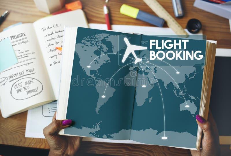 飞行票售票目的地旅途概念 图库摄影