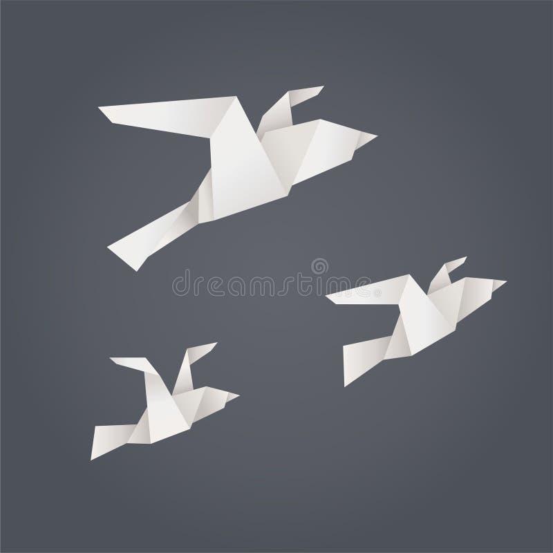飞行纸鸟 库存例证