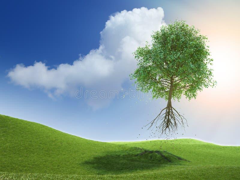飞行结构树 向量例证