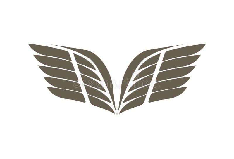 飞行翼被隔绝的象征 库存例证