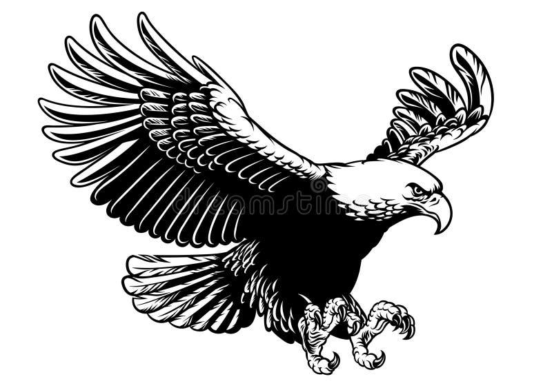飞行老鹰涂了翼 向量例证