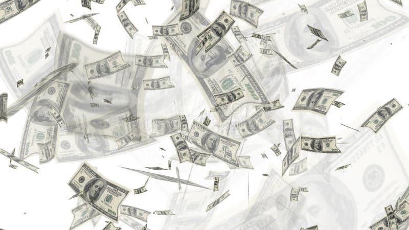 飞行背景的$100个美金 免版税库存图片