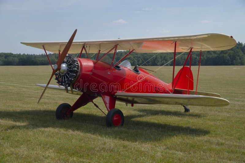 飞行表演在Gotartowice在波兰 库存图片