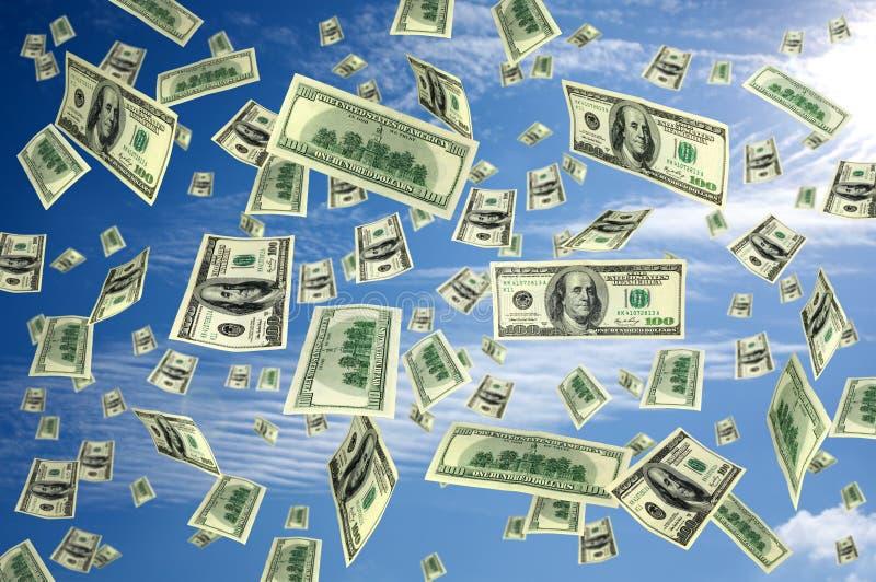飞行货币的美元 免版税图库摄影