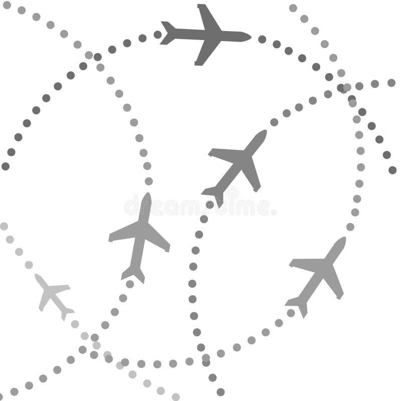 飞行路径飞机 皇族释放例证
