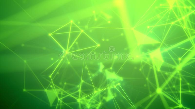 飞行通过闪烁抽象网络 皇族释放例证