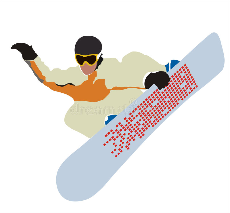 飞行雪板 库存图片