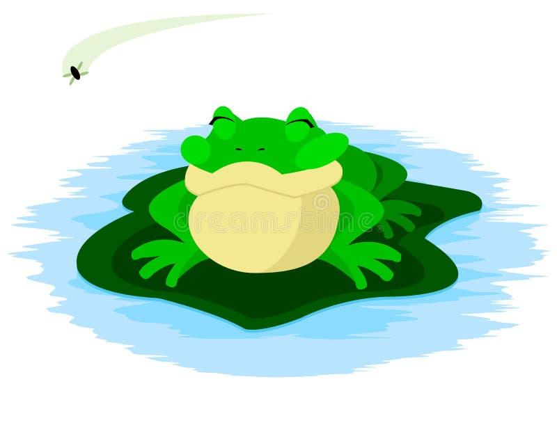 飞行青蛙 向量例证