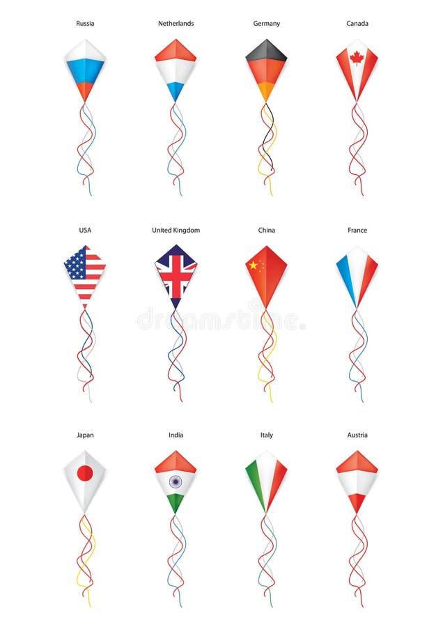 飞行风筝的标志 皇族释放例证