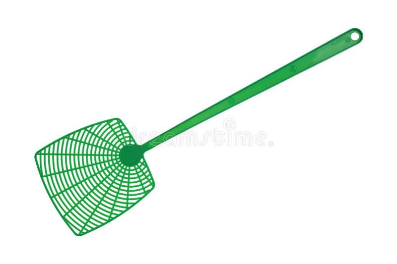 飞行绿色苍蝇拍 免版税库存照片