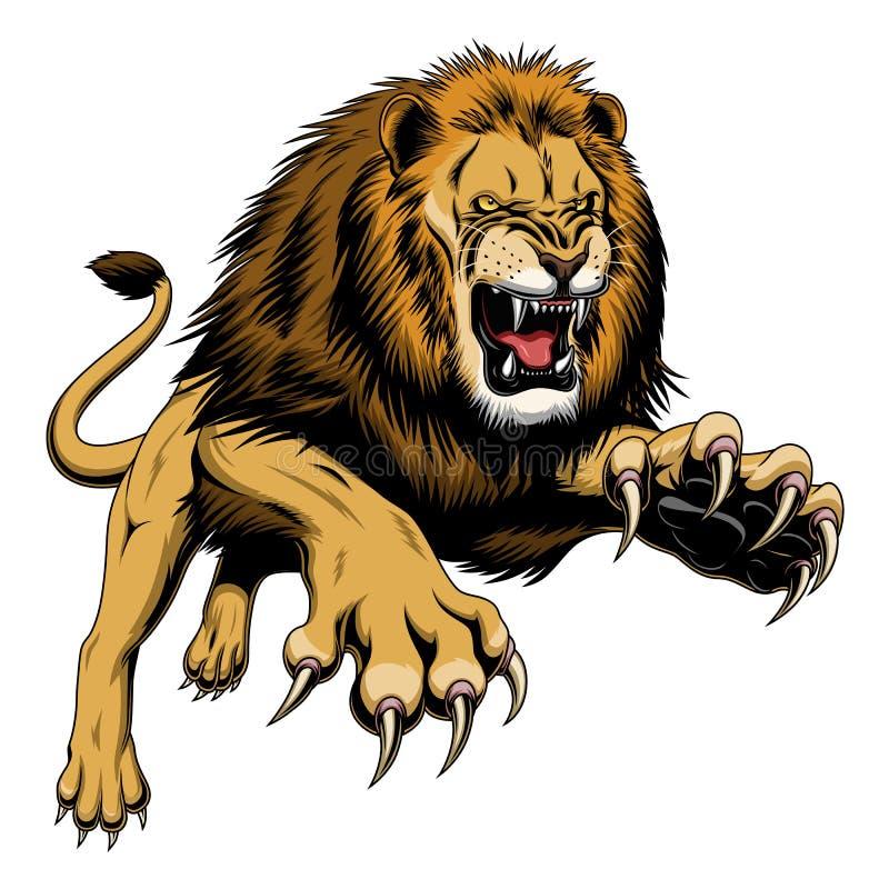 飞跃狮子 皇族释放例证