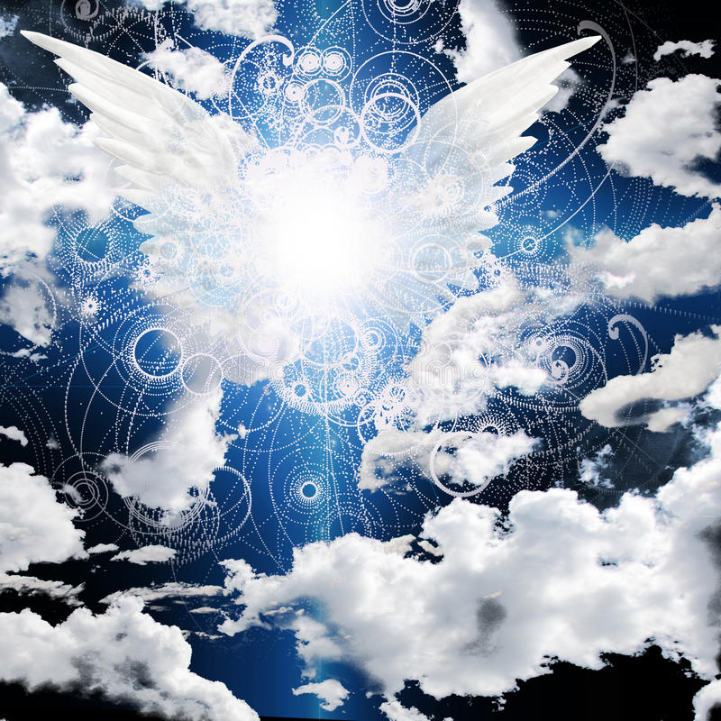 飞过的天使 向量例证