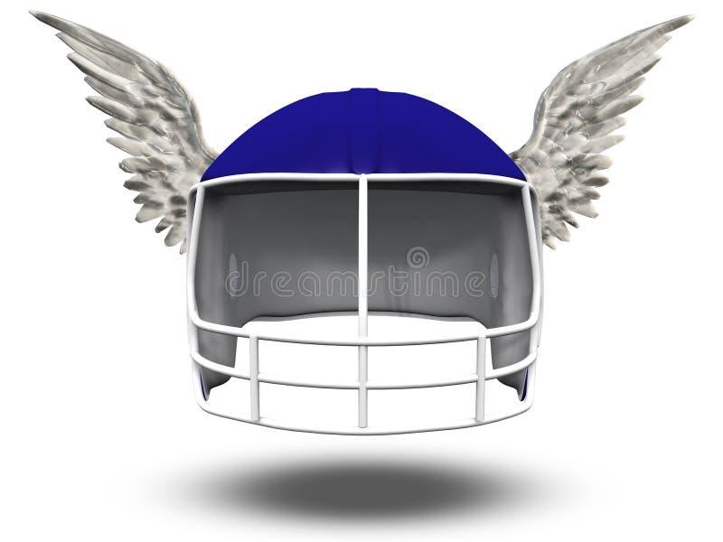 飞过的橄榄球盔 向量例证