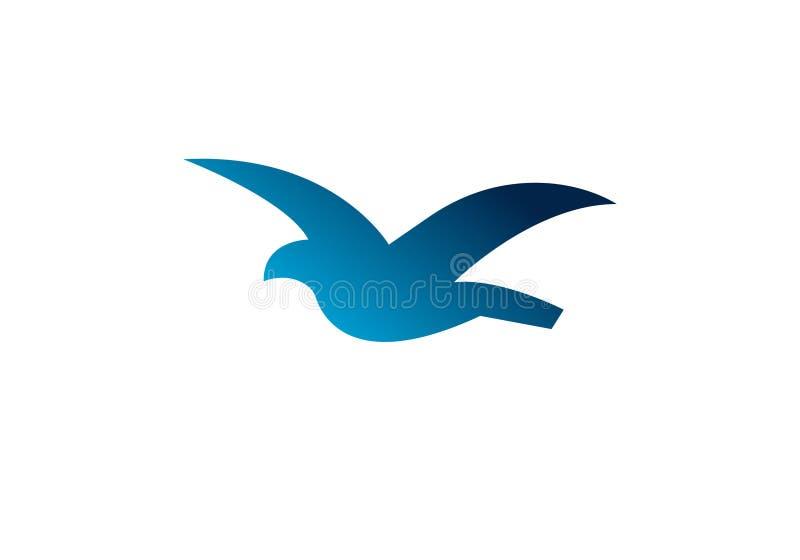 飞鸟摘要商标设计传染媒介模板 五颜六色的鸠创造性的略写法象 向量例证