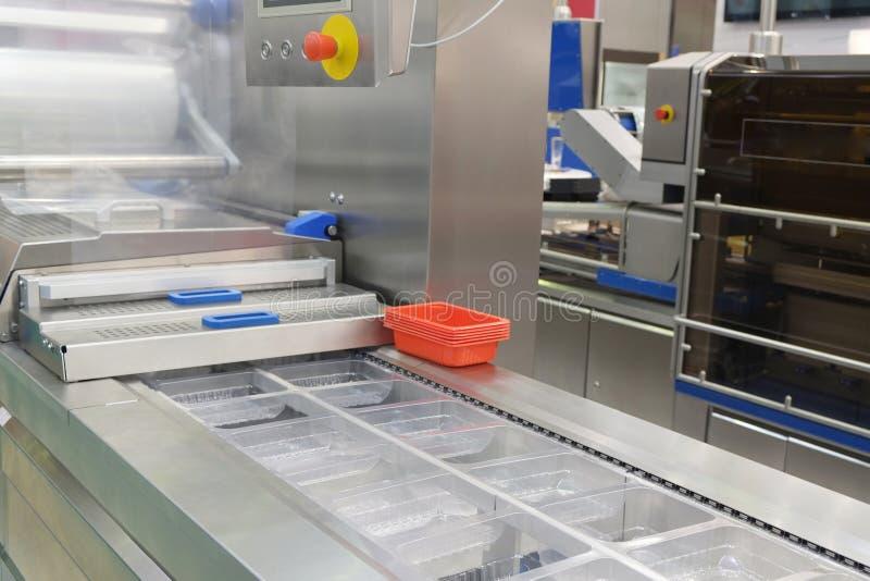 食品包装产业设备 免版税库存照片