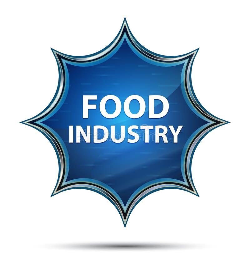 食品工业不可思议的玻璃状旭日形首饰蓝色按钮 皇族释放例证