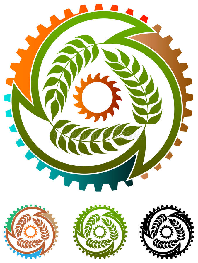 食品工业商标 皇族释放例证