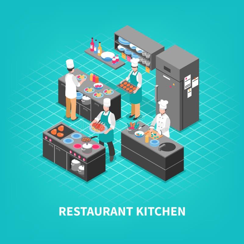 食品店厨房构成 库存例证