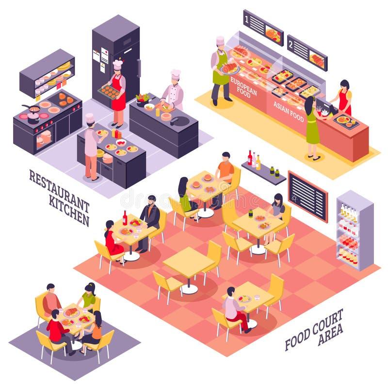 食品店设计观念 皇族释放例证