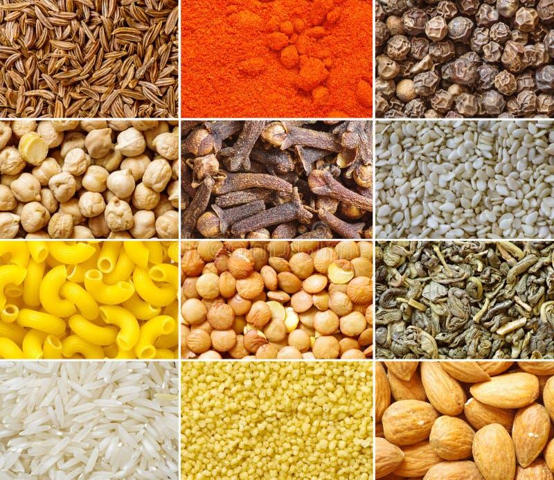 食品成分的汇集 免版税库存照片