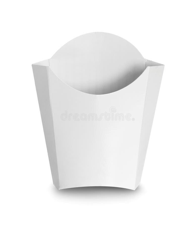 食品的白色包裹箱子 免版税图库摄影