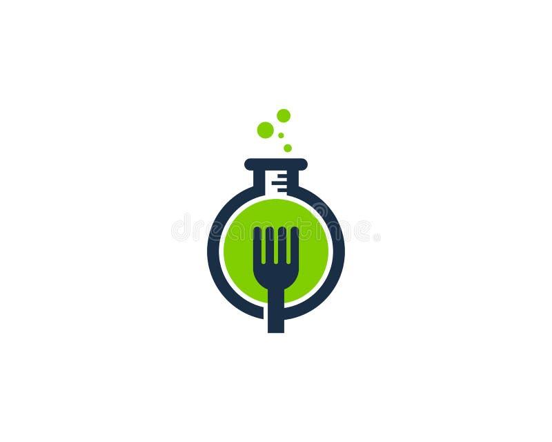 食品科学实验室象商标设计元素 皇族释放例证