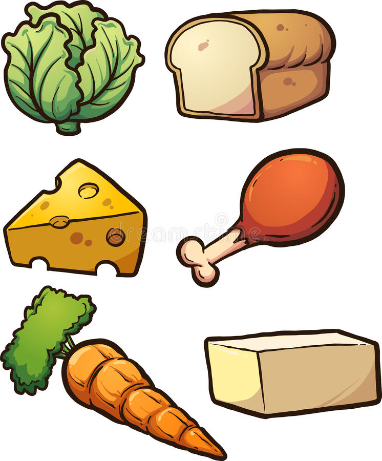 食品项目 皇族释放例证
