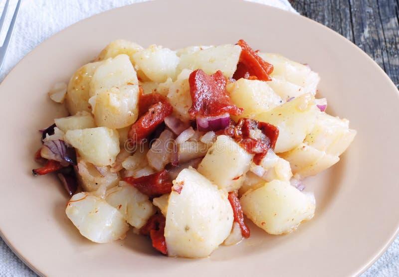 素食土豆沙拉 库存照片