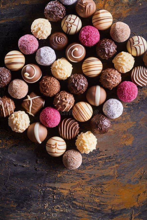 食家巧克力长方形静物画  图库摄影