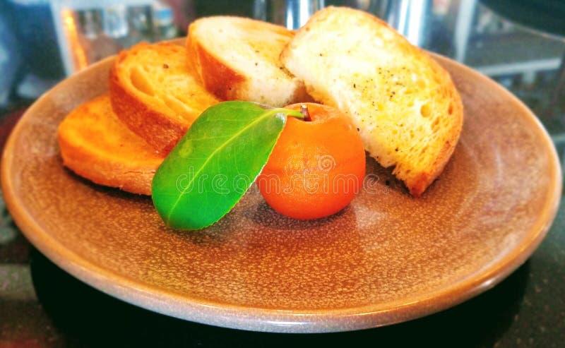 食家开胃菜:午餐的鹅肝 库存图片