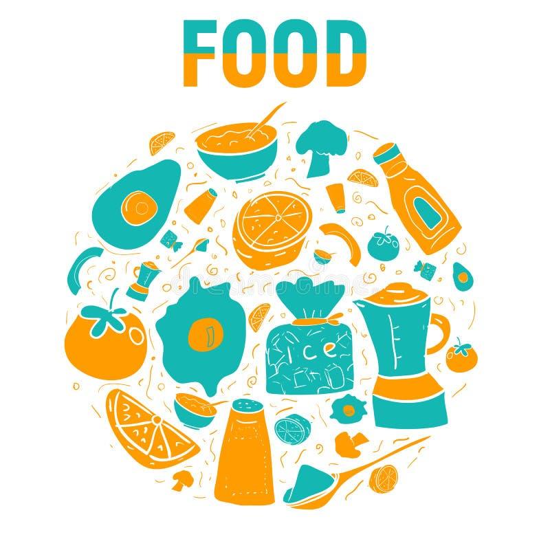 食物传染媒介例证 图库摄影