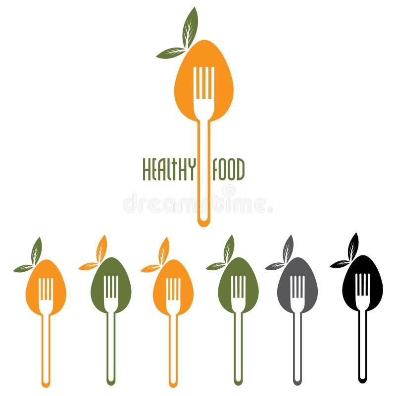 食物传染媒介设计模板 库存例证