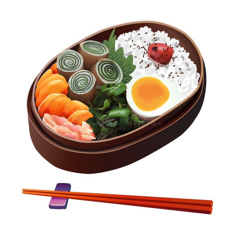 食物例证:日本食物例证 库存例证
