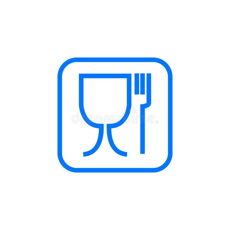 食物保险柜标志 不适用于食物象 没有食品等级标志 也corel凹道例证向量 库存例证