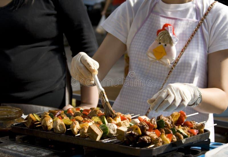 食物停转街道 免版税库存照片
