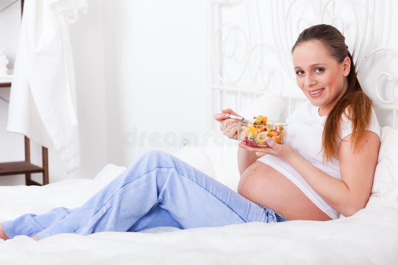 食物健康孕妇 免版税库存图片