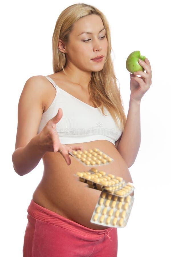食物健康孕妇 库存图片