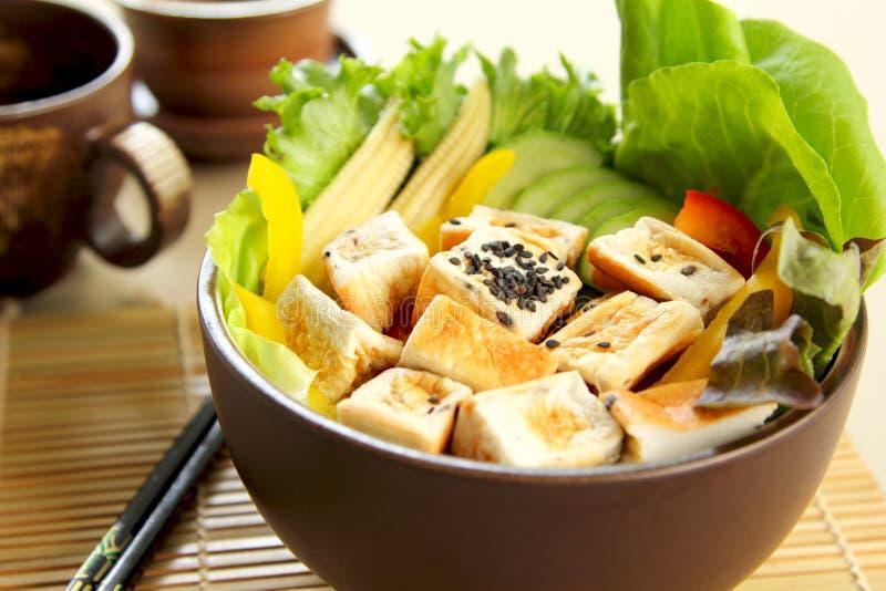 食物健康沙拉豆腐 免版税库存照片