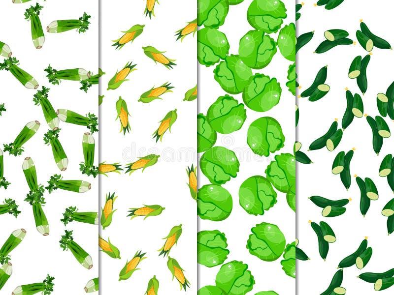 食物健康素食主义者 收集设计要素蔬菜 皇族释放例证