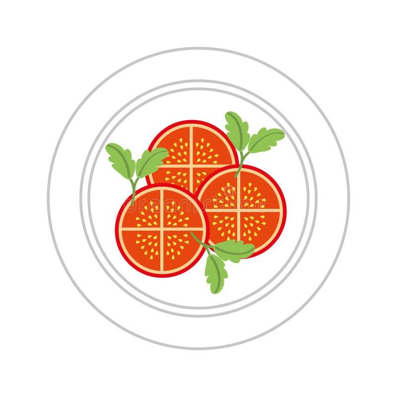 食物健康素食主义者 向量例证