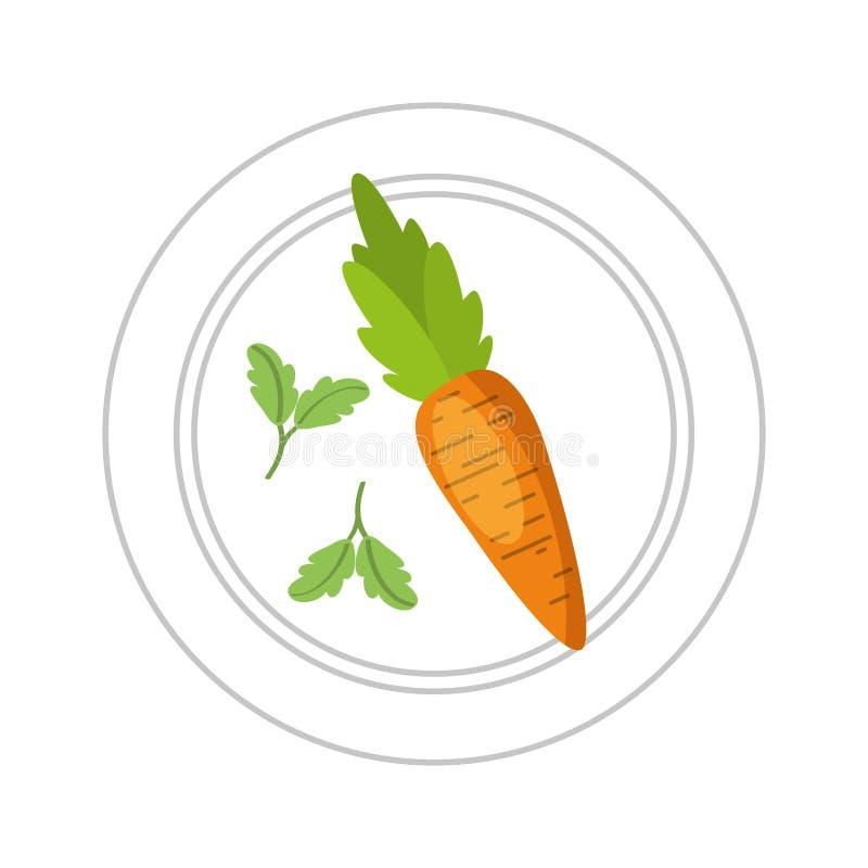 食物健康素食主义者 库存例证