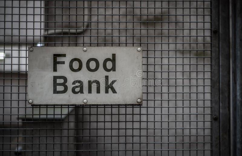 食物储蓄所标志 免版税库存照片