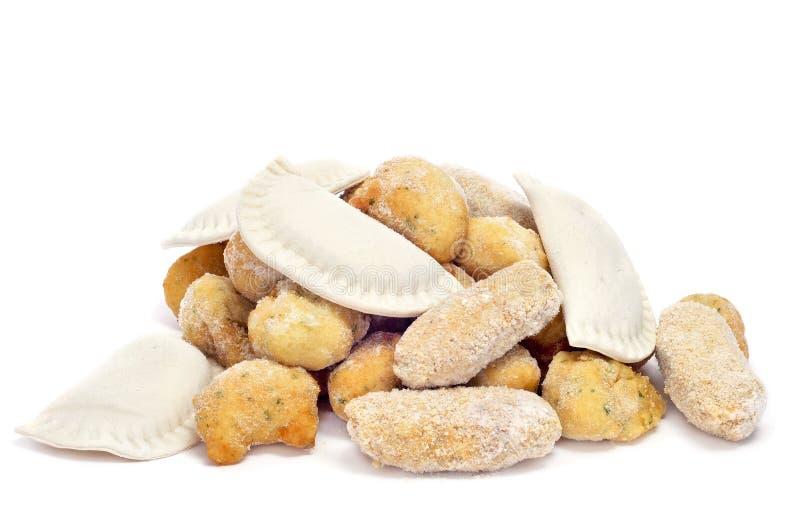 食物冻结的西班牙语 库存图片