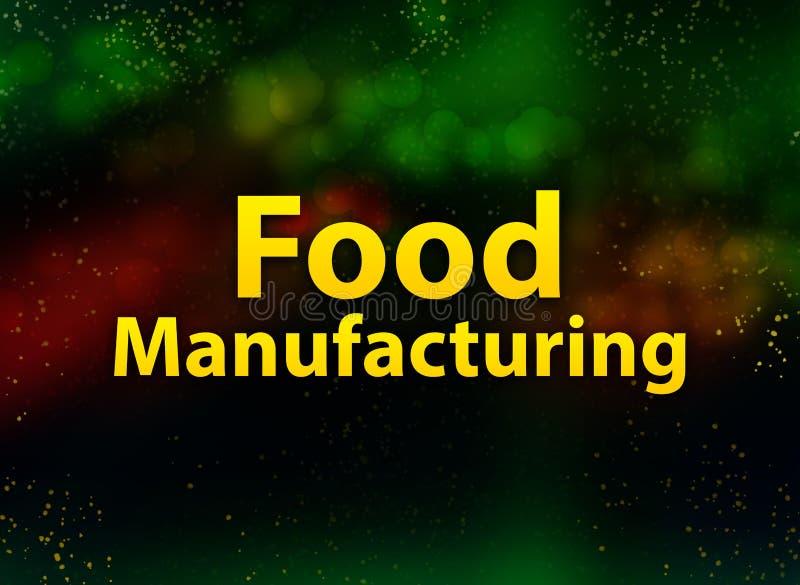食物制造的摘要bokeh黑暗的背景 向量例证