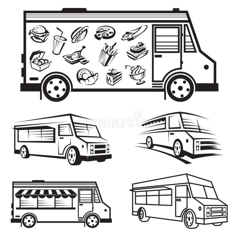 食物卡车象设计 向量例证