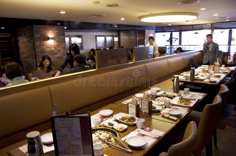 食物吃汉城韩国韩国人的餐馆人 库存照片